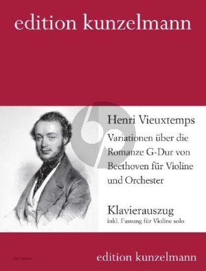 Vieuxtemps Variationen über die Romanze G-Dur von Beethoven Violine und Orchester (Klavierauszug) (Olaf Adler)