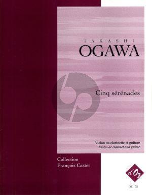 Ogawa Cinq Serenades (1998) Violon ou Clarinette et Guitare