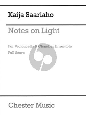 Saariaho Notes On Light for Cello and Chamber Orchestra (Full Score)