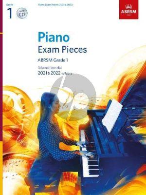 Album ABRSM Piano Exam Pieces 2021 & 2022 Grade 1 Book with Cd