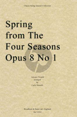 Vivaldi Spring from The Four Seasons, Opus 8 No.1 String Quartet Score (arranged by Carlo Martelli)