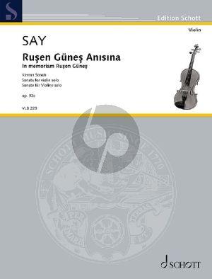 Say In memoriam Ruşen Güneş - Sonata for Violin solo