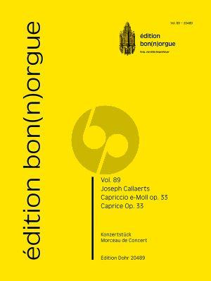 Callaerts Capriccio e-Moll Op. 33 für Orgel solo (Otto Depenheuer)