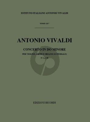 Vivaldi Concerto c-minor Op. 9 No. 11 RV 198a Violin-String-Bc (Score) (edited by Gian Francesco Malipiero)