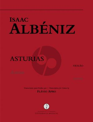 Albeniz Asturias for Guitar in the Original Key of G Minor (Transcription by Flavio Arpo)
