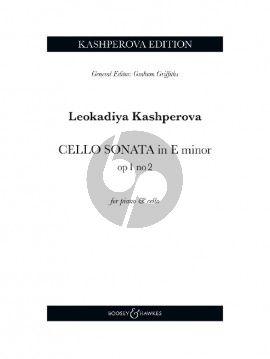 Kashperova Sonata Op. 1 No. 2 E-minor Cello and Piano