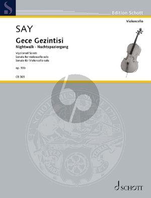 Say Gece Gezintisi (Nightwalk) Op. 93b Cello solo (Sonata)