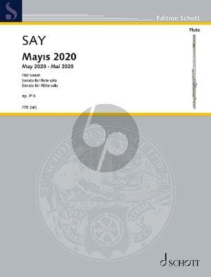 Say Mayıs 2020 Op. 91b Flute solo (Sonata)
