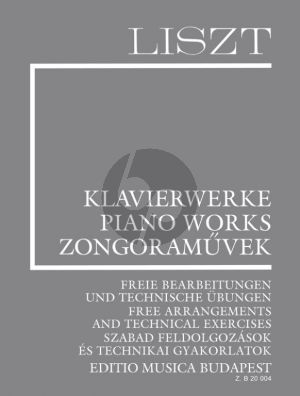 Liszt Liszt Complete Piano Works Supplement Vol.16 (Free Arrangements and Technical Exercises) (Edited by Adrienne Kaczmarczyk and Agnes Sas)