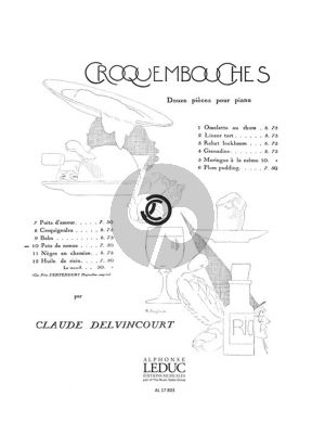 Delvincourt Croquembouches No.10 - Pets de Nonne Piano Solo