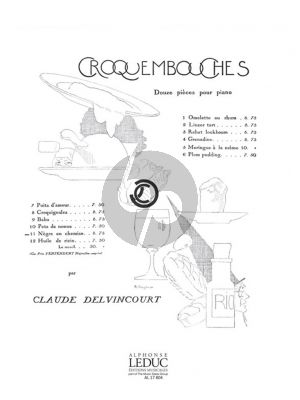 Delvincourt Croquembouches No.11 - Negre en Chemise Piano Solo