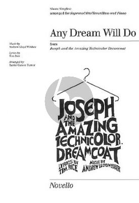 Lloyd Webber Any Dream Will Do SATB with Piano (from Joseph and the Amazing Technicolor Dreamcoat) (arranged by Barrie Carson Turner)