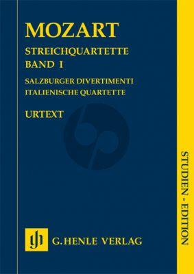 Mozart Streichquartette Band I Taschenpartitur (Herausgeber Wolf-Dieter Seiffert) (Salzburger Divertimenti, Italienische Quartette)