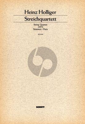 Holliger Streich Quartett (1973) Stimmen Set