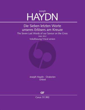 Haydn Die sieben letzten Worte unseres Erlösers am Kreuze, Hob. XX:2 Vokalfassung (Partitur) (Wolfgang Hochstein)