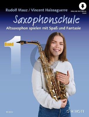 Mauz-Haissaguerre Saxophonschule Band 1 (Altsaxophon spielen mit Spaß und Fantasie) (Buch mit Audio online)