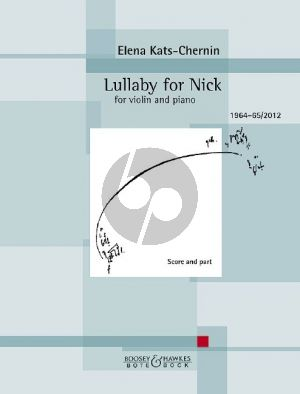 Kats-Chernin Lullaby for Nick for Violin and Piano