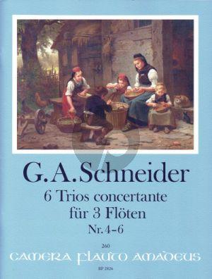 Schneider 6 Trios concertante Heft 2: Trios 4 - 6 3 Flöten (Part./Stimmen) (Yvonne Morgan)