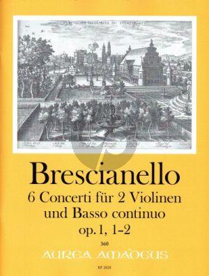 Brescianello 6 Concerti Op. 1 No. 1 - 2 2 Violinen und Bc (Part./Stimmen) (Winfried Michel)