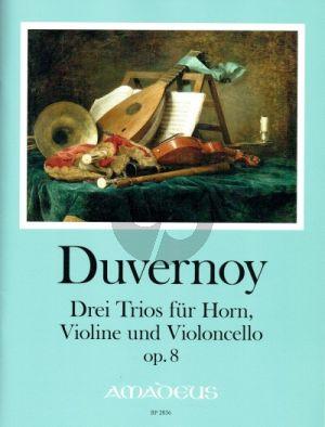 Duvernoy 3 Trios Op. 8 Horn-Violine und Violoncello (Part./Stimmen) (Yvonne Morgan)