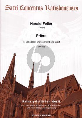 Feller Prière für Viola (oder Englischhorn) und Orgel