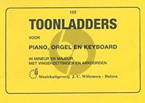 Toonladders voor Piano (Orgel/Keyboard)