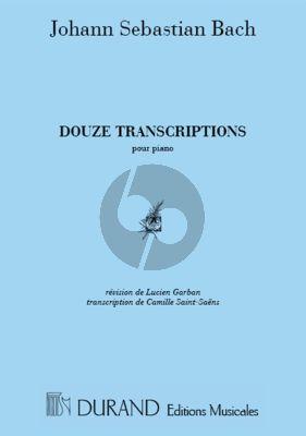 Bach 12 Transcriptions pour Piano (transcr. par Camille Saint-Saens) (Lucien Garban)
