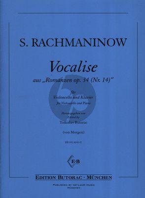 Rachmaninoff Vocalise Op.34 No.14 fur Violoncello und Klavier (Bearbeitung für Violoncello von Philipp von Morgen)