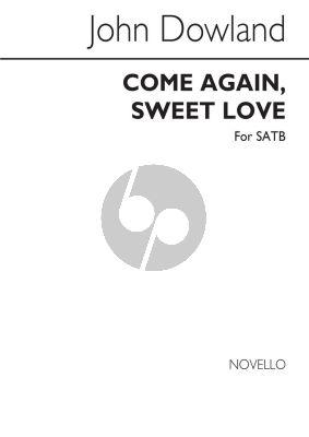 Dowland Come Again Sweet Love SATB a Cappella