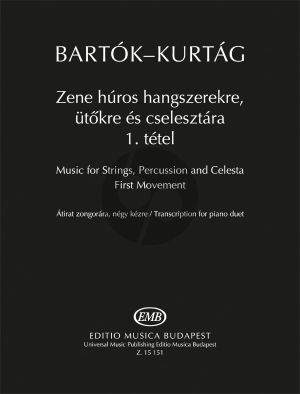 Bartok Music for Strings, Percussion and Celesta - First Movement for Piano 4 Hands (Transcription for Piano Duet by György Kurtág)