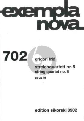 Frid Streichquartett No. 5 Op. 70 Part./Stimmen