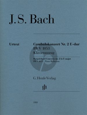 Bach Harpsichord Concerto No. 2 E-major BWV 1053 (piano reduction) (edited by Norbert Müllemann and Matan Entin)