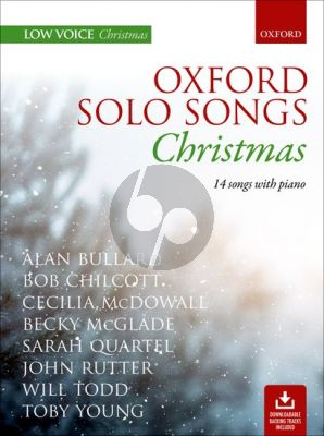Oxford Solo Songs: Christmas Low Voice with Piano (14 Songs) (Book with Audio online)
