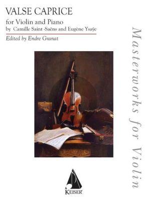 Saint-Saens Caprice d'après l'Etude en forme de Valse Violin and Piano (arr. by Eugene Ysaye)