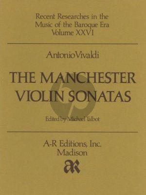 Vivaldi Manchester Violin Sonatas for Violin and Bc (Violin part) (Edited by Michael Talbot)