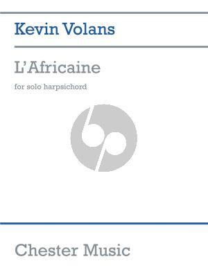 Volans L'Africaine for Harpsichord