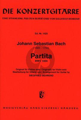 Bach Partita No.2 für Violine solo BWV 1004 d-Moll fur Gitarre (Bearbeitet von Siegfried Behrend)