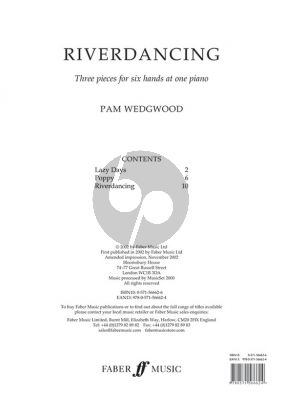 Wedgwood River Dancing for One Piano 6 Hands (Intermediate)
