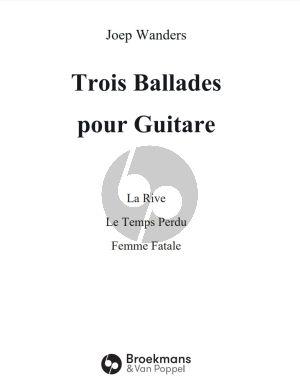 Wanders 3 Ballades pour Guitare