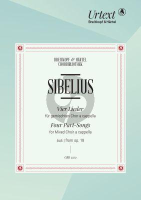 Sibelius 4 Lieder aus Op.18 fur SATB (Sakari Ylivuori) (Finnish)