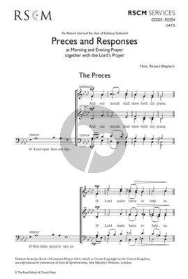 Shephard Preces and Responses SATB