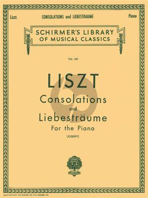 Liszt Consolations and Liebestraume Piano solo (Rafael Joseffy)
