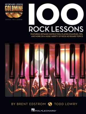 Edstrom Lowry 100 Rock Lessons Keyboard Lesson Goldmine Series  Book with 2 Cd's