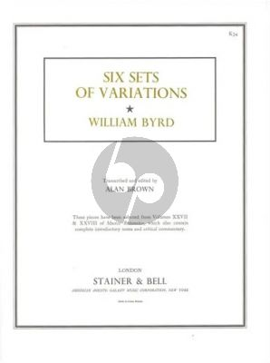 Byrd Six Sets of Variations from Musica Britannica for Harpsichord (Transcribed and Edited by Alan Brown)