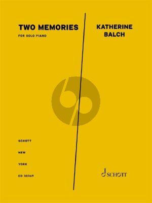 Balch Two Memories Piano solo