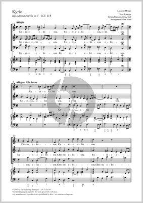 Mozart Kyrie in C (aus Missa brevis in C KV 115) SAB-Bc (Partitur) (Paul Horn)