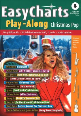 Easy Charts Play-Along Christmas Pop all C.-Bb-Eb. Instruments (Book with Audio online) (arr. Uwe Bye)