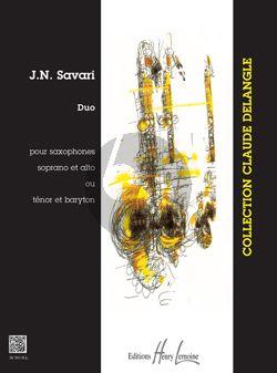 Savari Duo 2 Saxophones (SA or TB) (interm.)