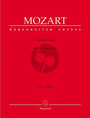 Tantum ergo KV 197 (Anh. 186e) SATB-Orchester Partitur