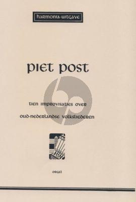 Post 10 Improvisaties over Oud Nederlandse Volksliederen Orgel